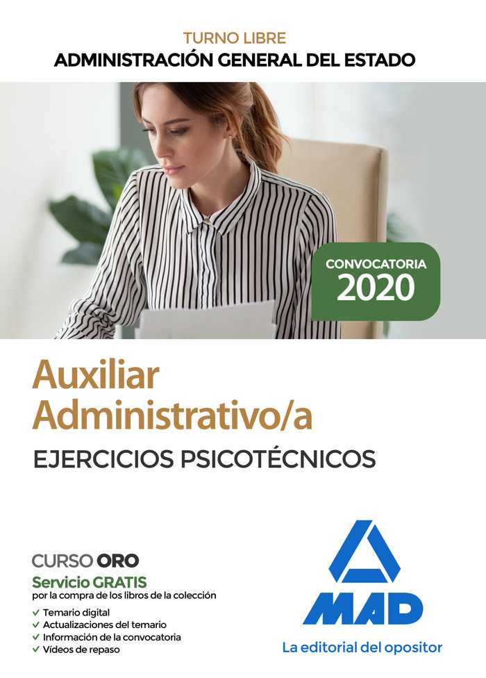 Auxiliar administrativo administracion general estado psico