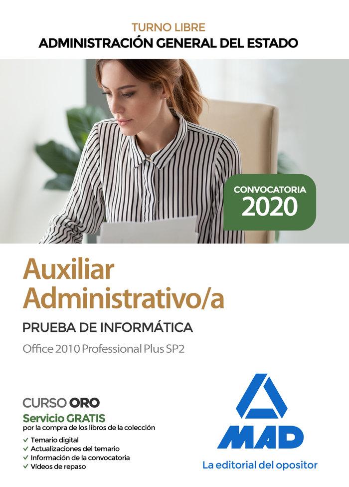 Auxiliar administrativo administracion general estado offic