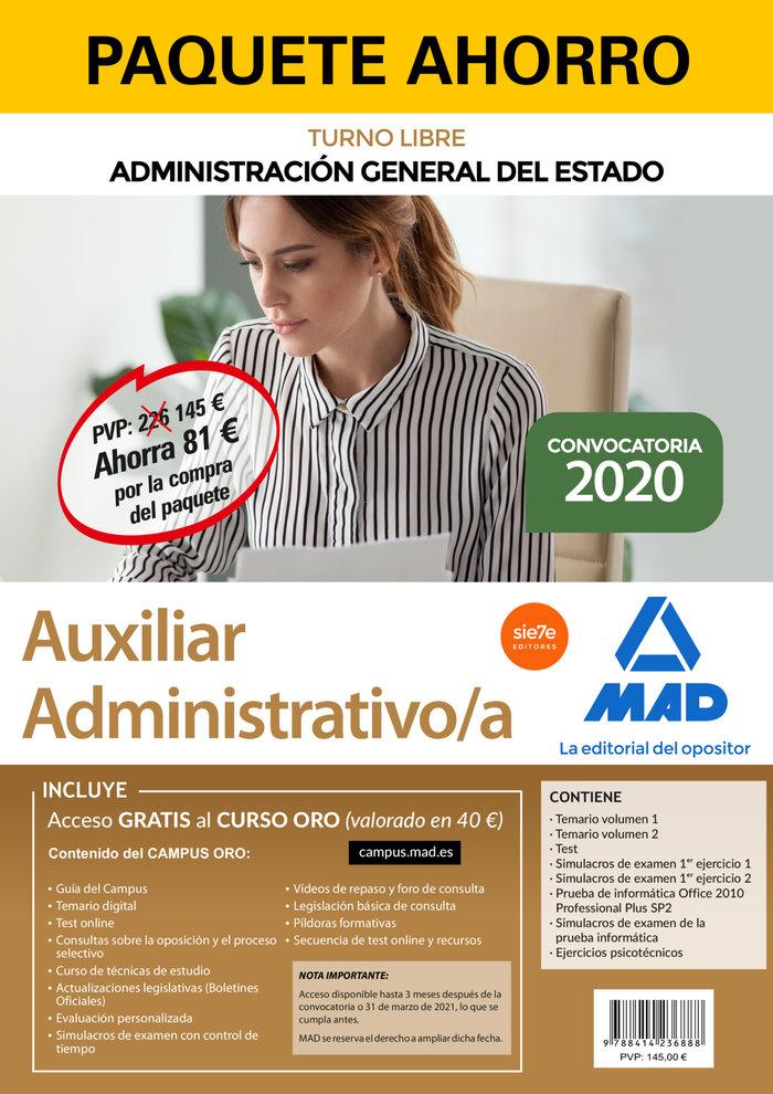 Paquete ahorro auxiliar administrativo de la administracion