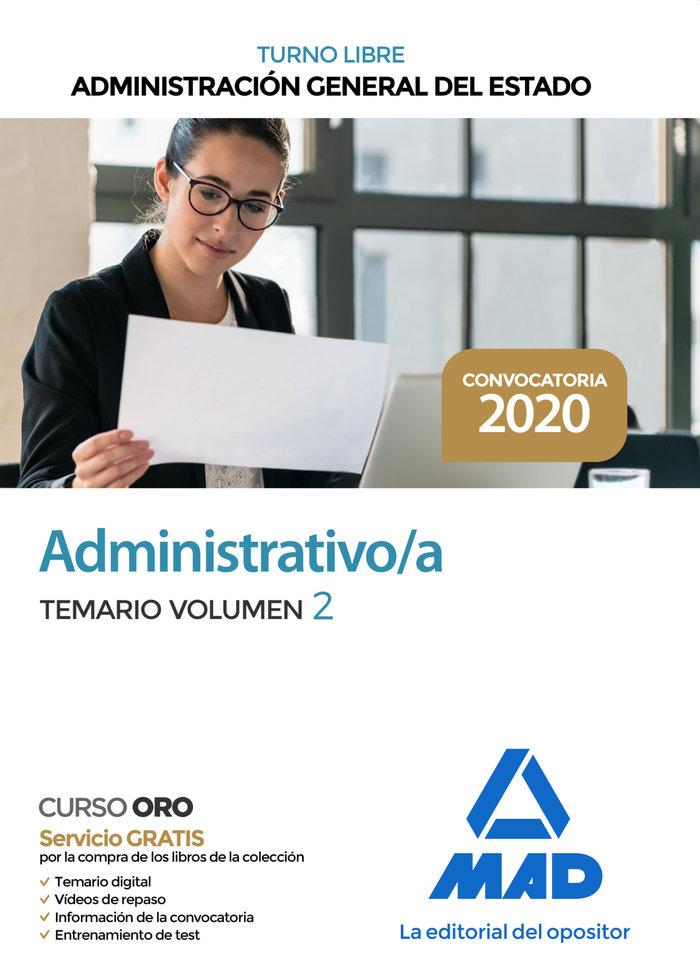 Administrativo administracion general estado vol 2 turno li