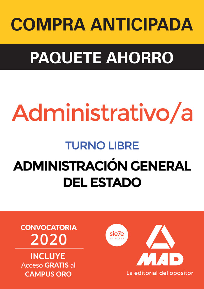 Paquete ahorro administrativo de la administracion general d