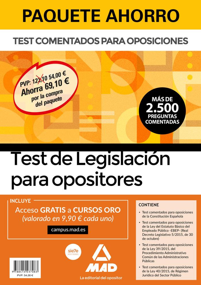 Paquete ahorro test de legislacion para opositores ahorra