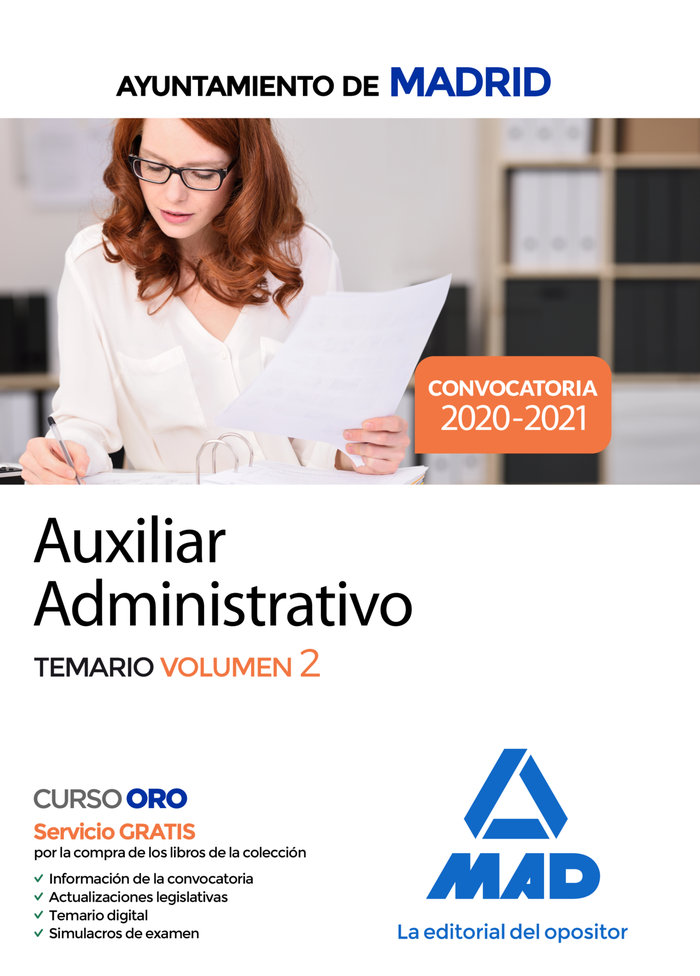 Auxiliar administrativo ayuntamiento madrid temario vol 2