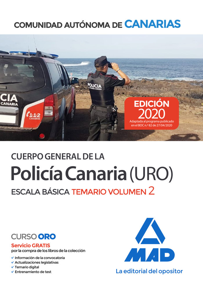 Cuerpo general de la policia canaria escala basica (policia