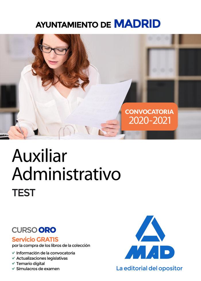 Auxiliares administrativos ayuntamiento de madrid test