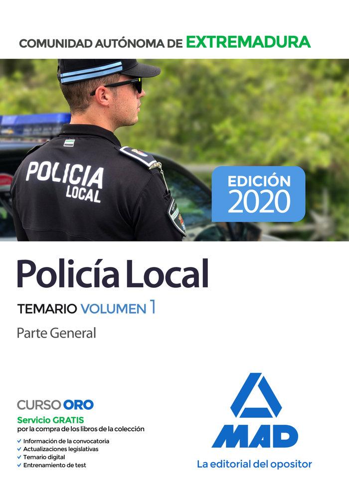 Policia local extremadura temario volumen 1 parte general