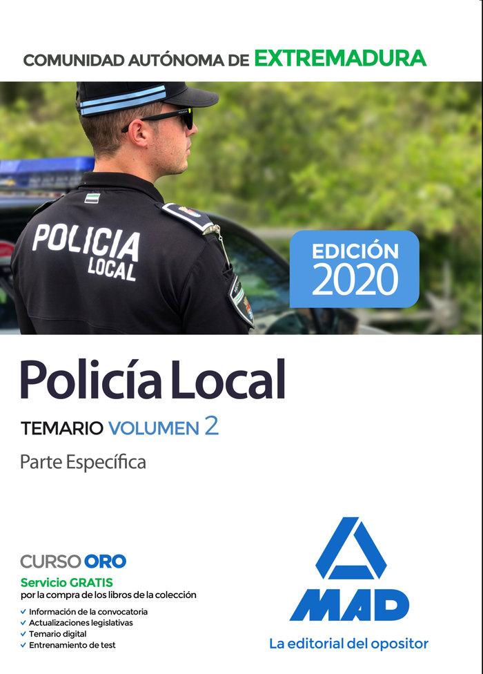 Policia local extremadura vol 2 parte especifica