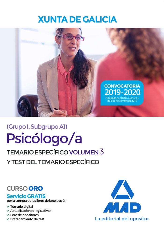 Psicologo/a xunta galicia grupo i subgrupo a1 test
