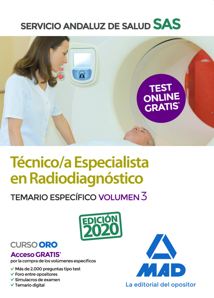 Tecnico/a especialista radiodiagnostico sas vol 3