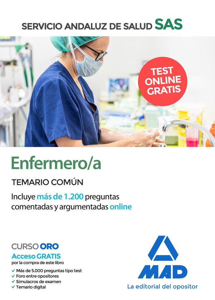 Enfermero/a sas temario comun 2020 +test online