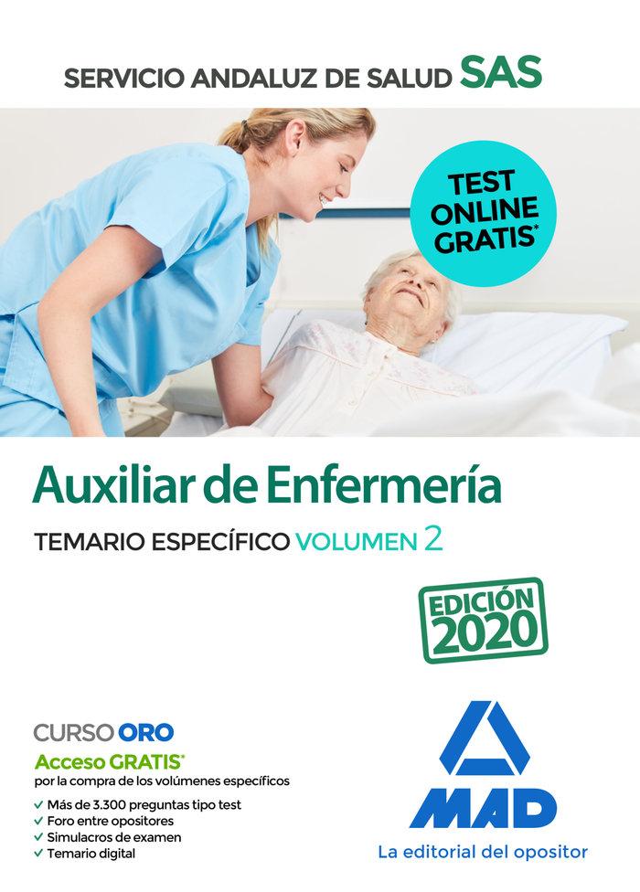 Auxiliar enfermeria sas temario especifico vol 2 2020