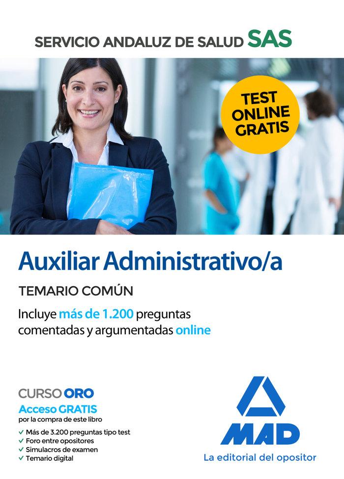 Auxiliar administrativo servicio andaluz salud temario