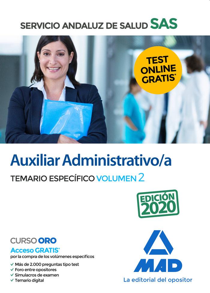 Auxiliar administrativo/a sas temario especifico volumen 2