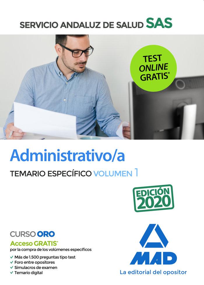 Administrativos/a sas temario especifico volumen 1 2020