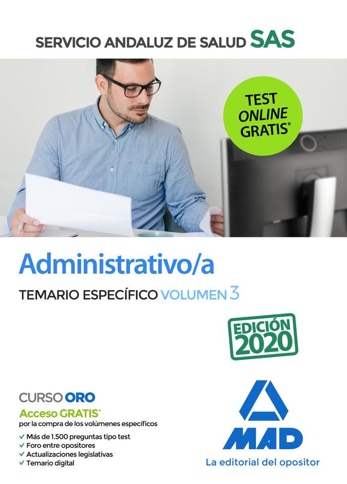 Administrativo/a sas temario especifico vol 3 2020