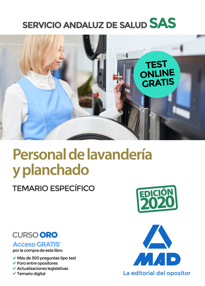 Personal lavanderia y planchado sas temario especifico 2020