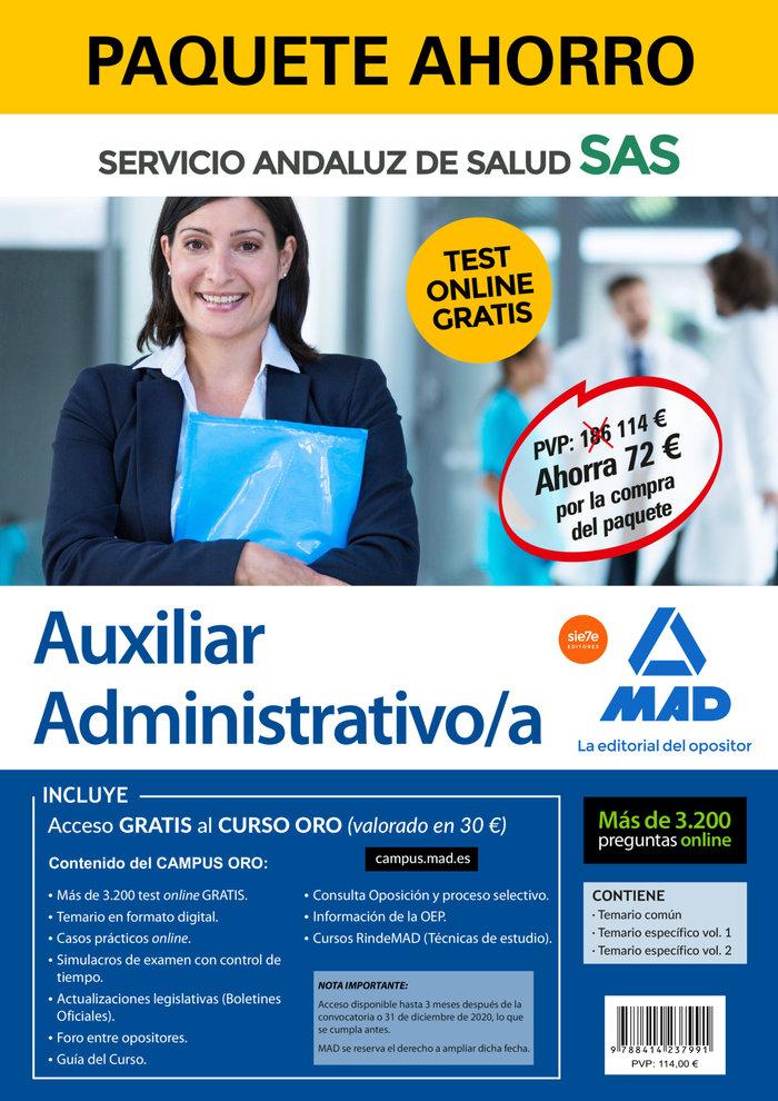 Paquete ahorro y test online gratis auxiliar administrativo