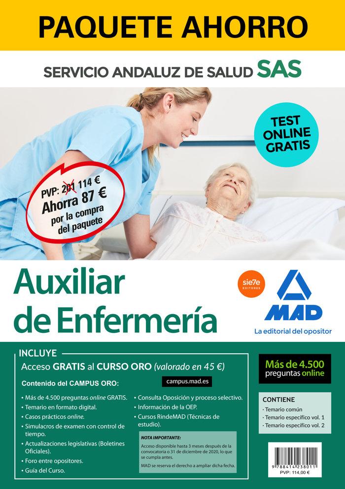 Paquete ahorro y test online gratis auxiliar de enfermeria d