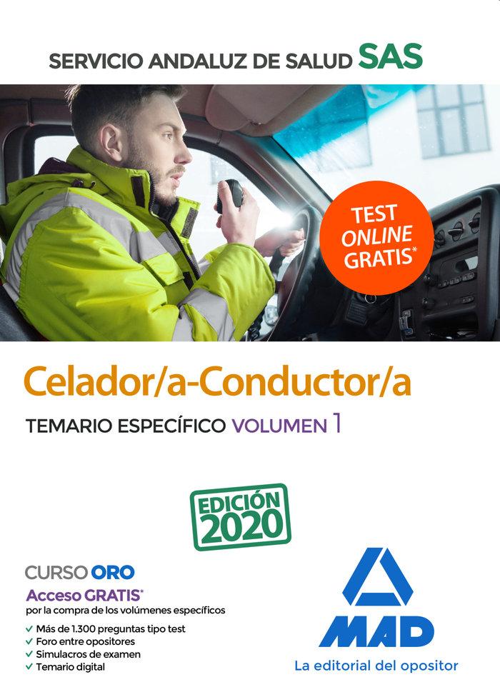 Celador/a conductor/a sas temario especifico volumen 1 2020