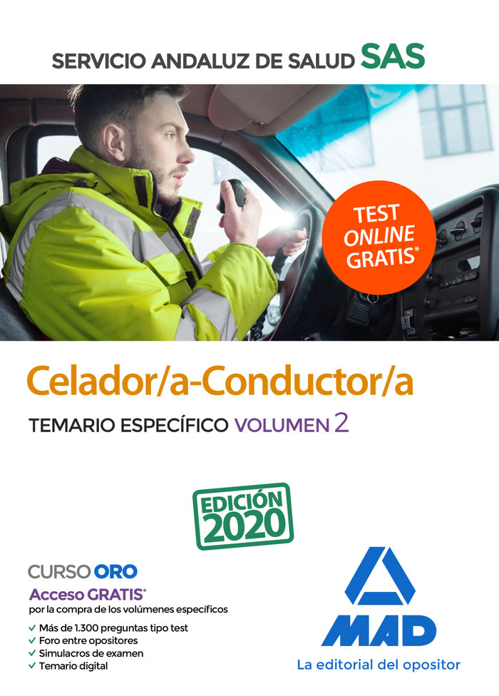 Celador/a conductor/a sas temario especifico volumen 2 2020