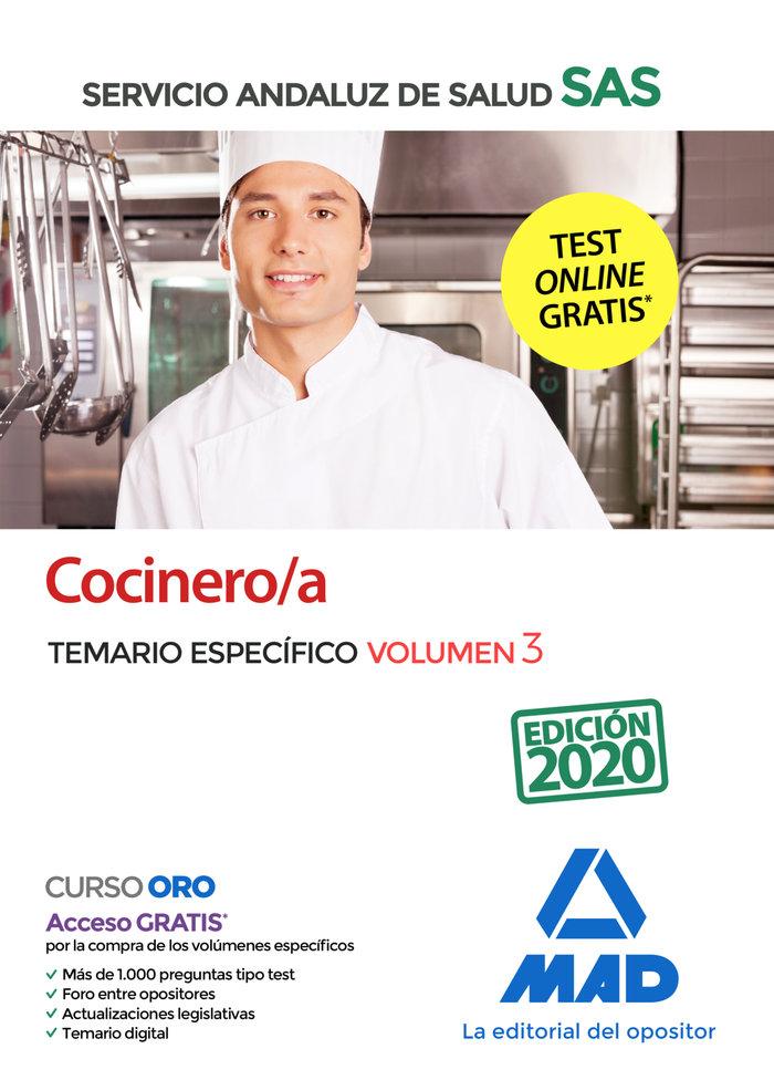 Cocinero/a servicio andaluz salud vol 3 especifico