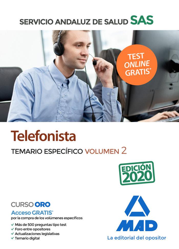 Telefonista servicio andaluz salud temario especifico vol 2