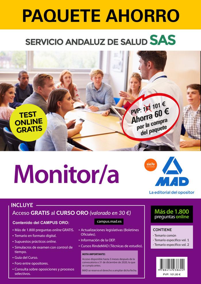 Paquete ahorro y test online gratis monitor/a del servicio a