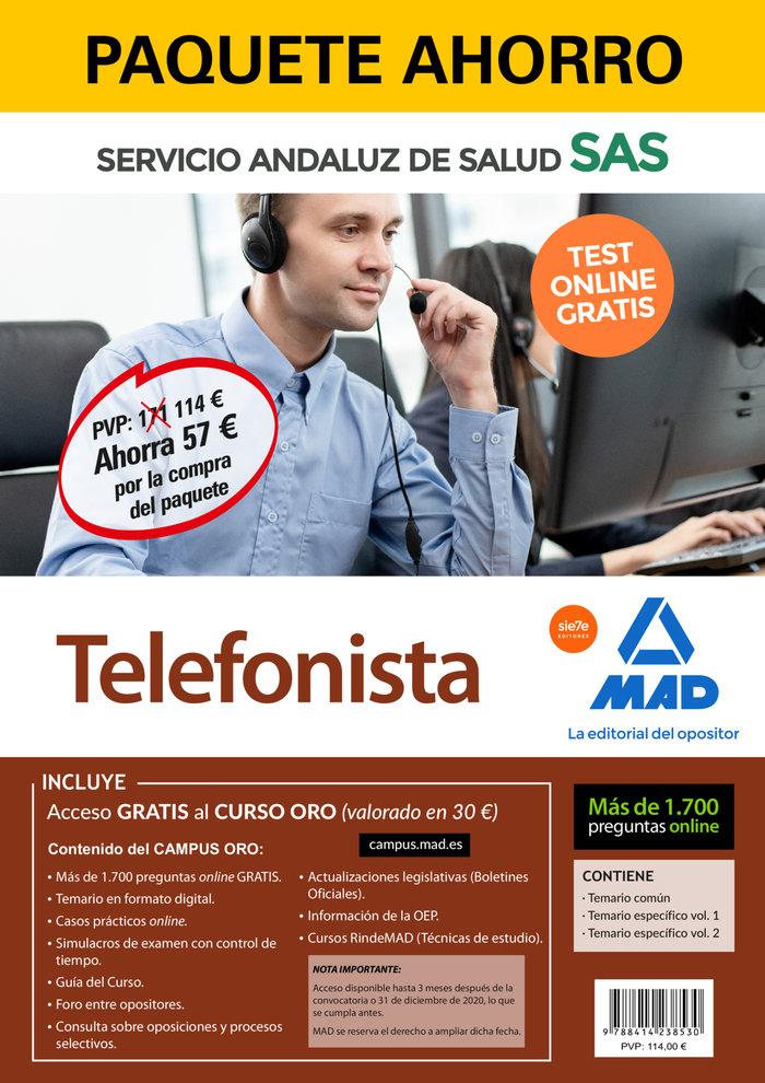 Paquete ahorro y test online gratis telefonista del servicio