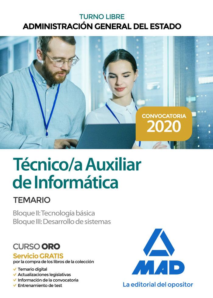 Temario tecnico/a auxiliar de informatica bloque ii y iii a