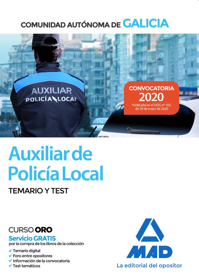 Auxiliar de policia local de galicia temario y test