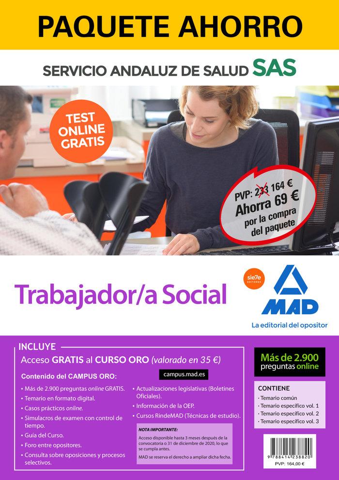 Paquete ahorro y test online gratis trabajador/a social del