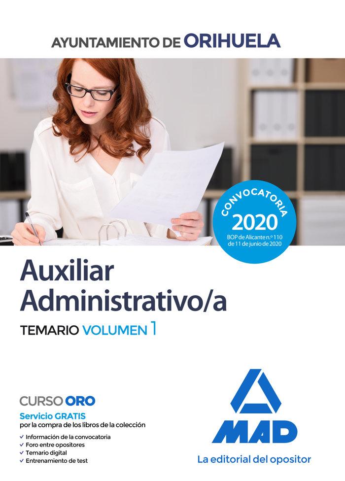 Auxiliar administrativo ayuntamiento orihuela temario 1