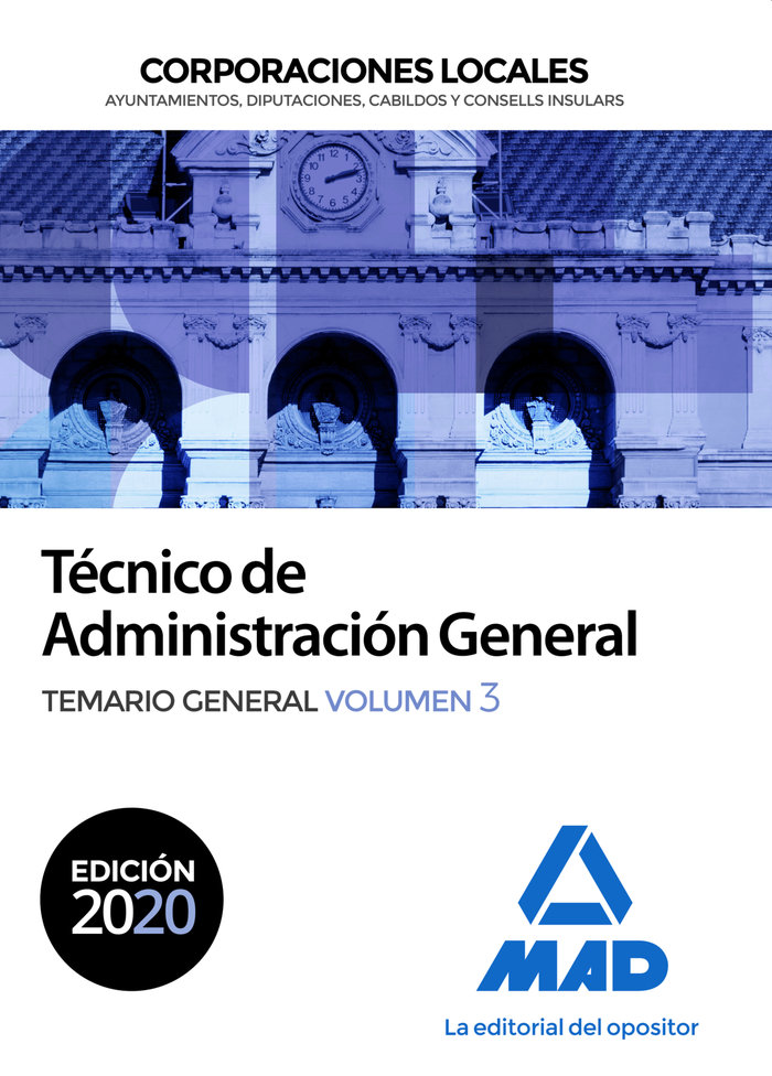 Tecnico administracion general corporacion local vol 3