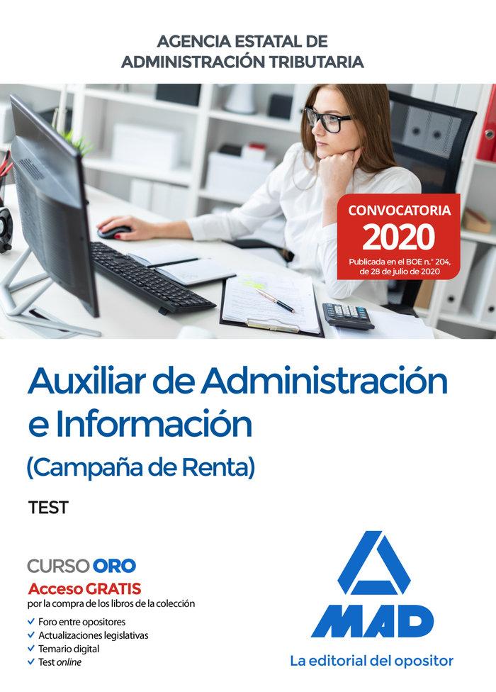 Test auxiliar adminis.informacion campaña renta