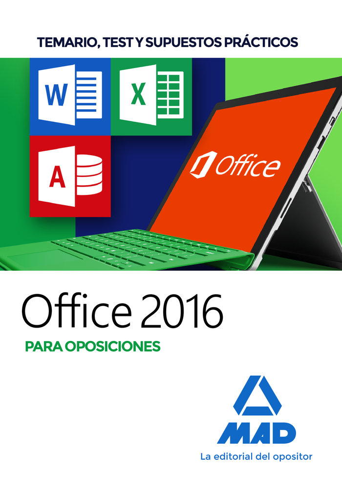 Office 2016 para oposiciones temario test y supuestos pract