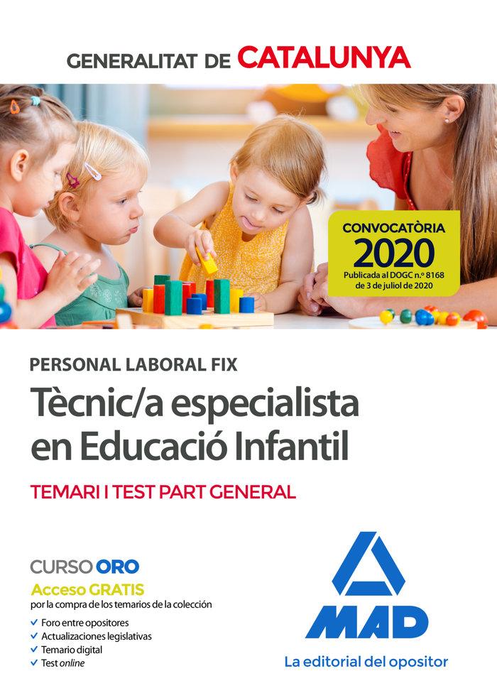 PERSONAL LABORAL FIX TÈCNI//A ESPECIALIST EDUCACIO TEMARI T