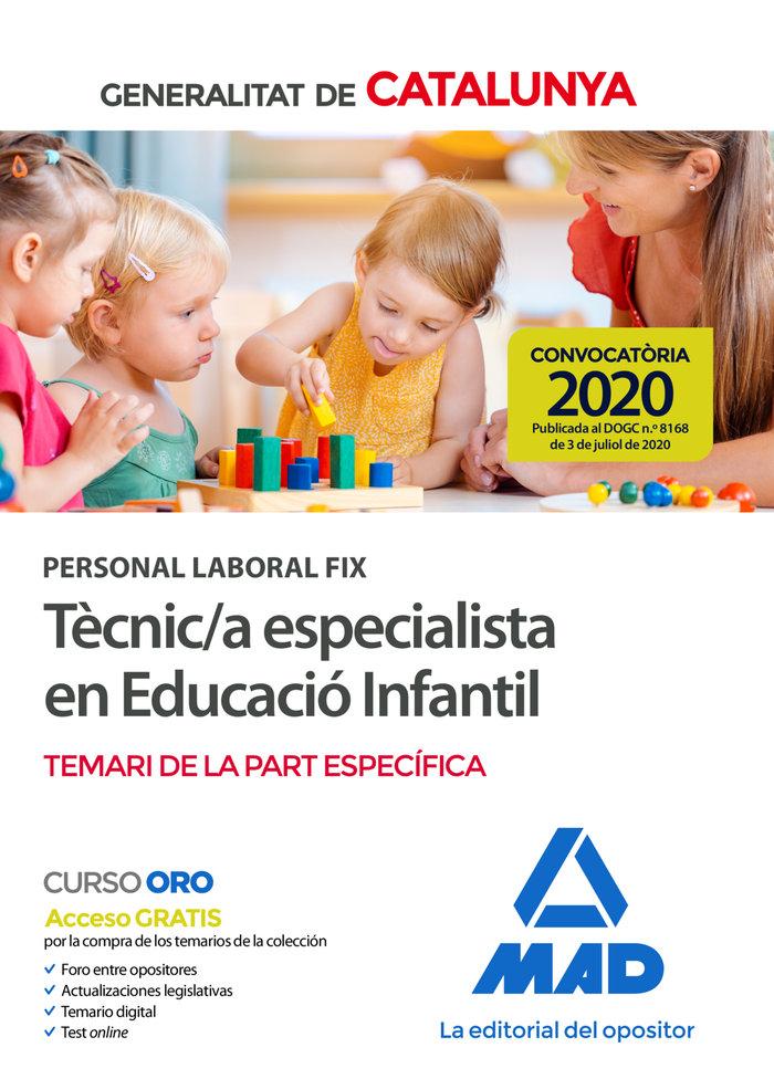 Personal laboral fix de tecnic/a especialista en educacio in