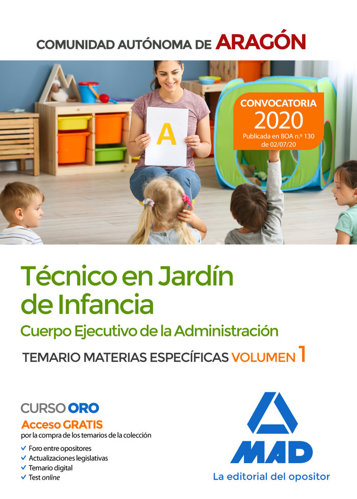 Tecnico jardin infancia comunidad autonoma aragon vol 1