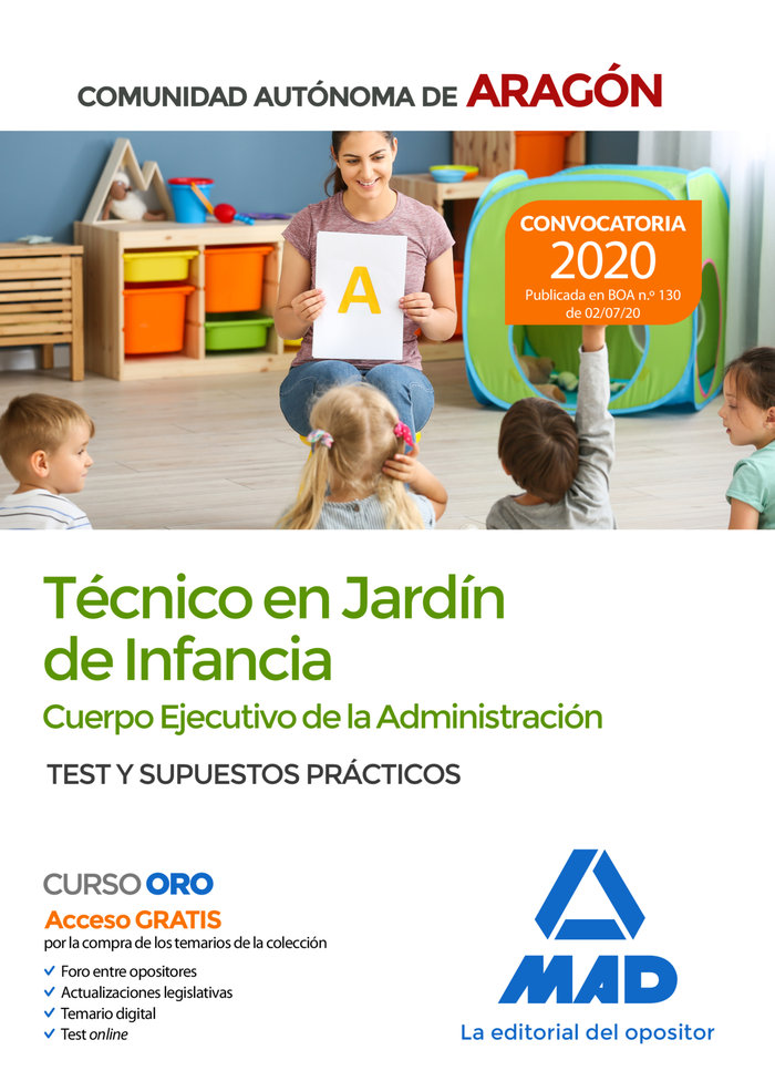 Tecnico jardin infancia comunidad aragon test