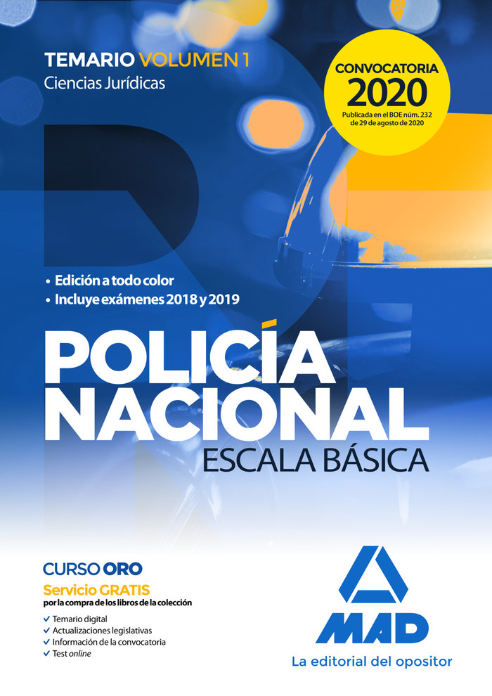 Policia nacional escala basica temario v.1 2020