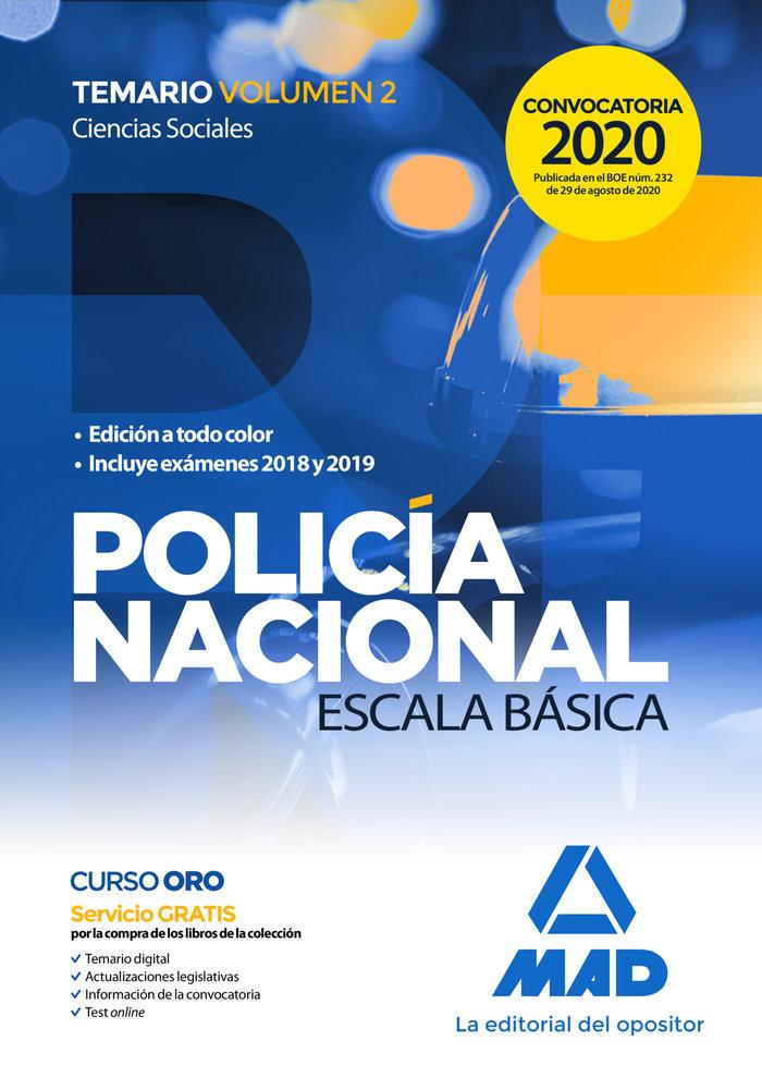 Policia nacional escala basica vol 2 ciencias sociales