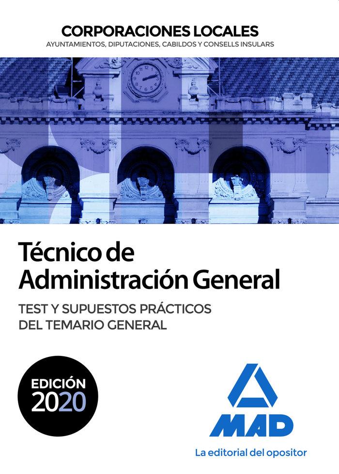 Tecnico administracion general corporaciones local test