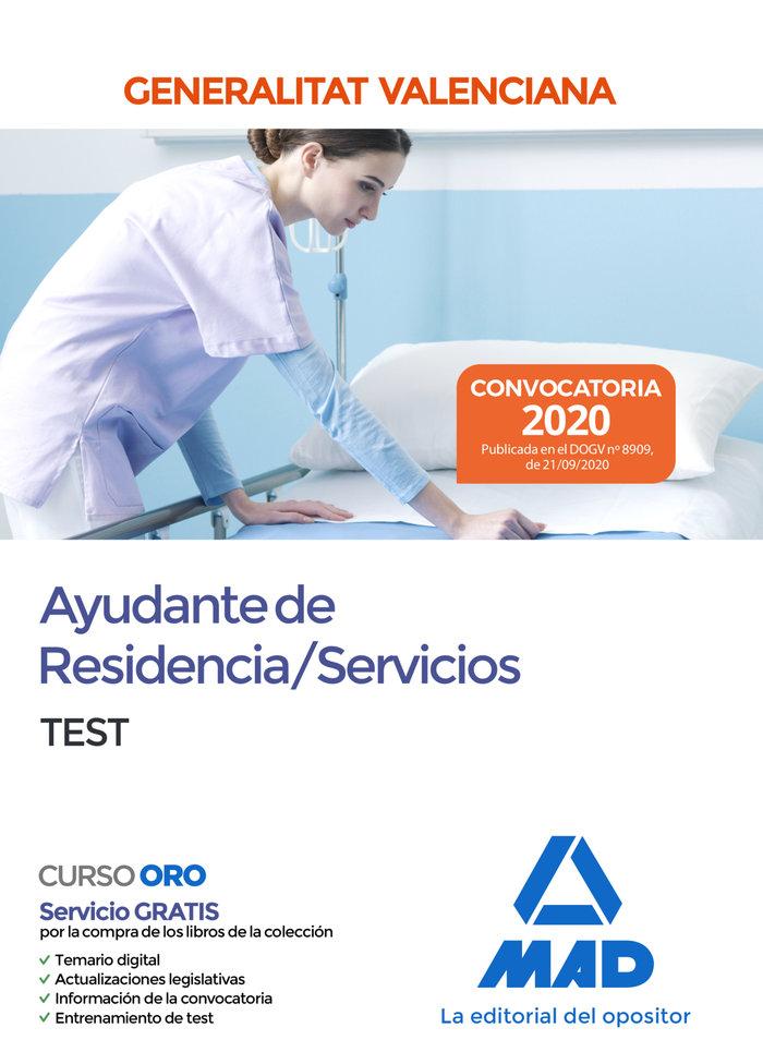 Ayudante de residencia servicios test generalitat valencia