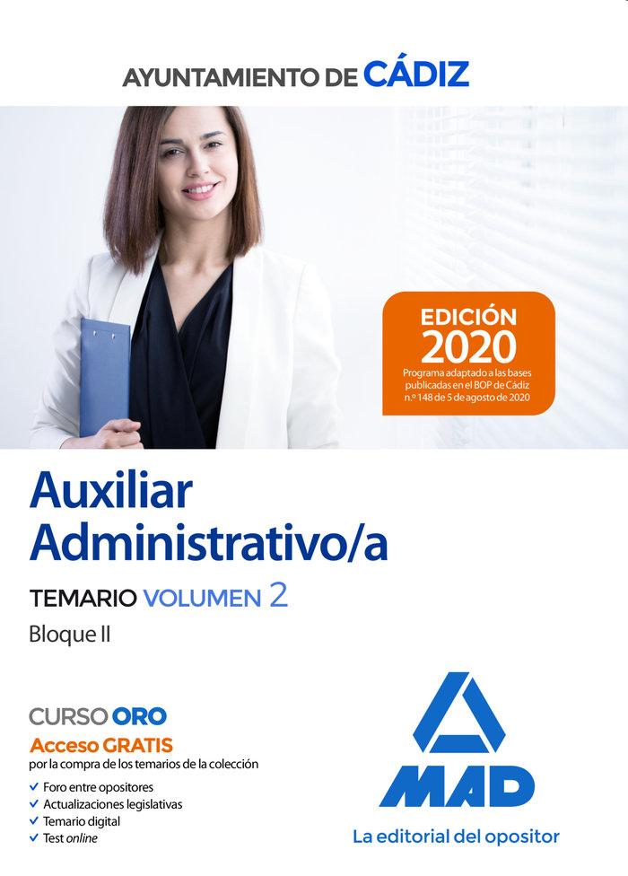Auxiliar administrativo ayuntamiento cadiz temario vol 2