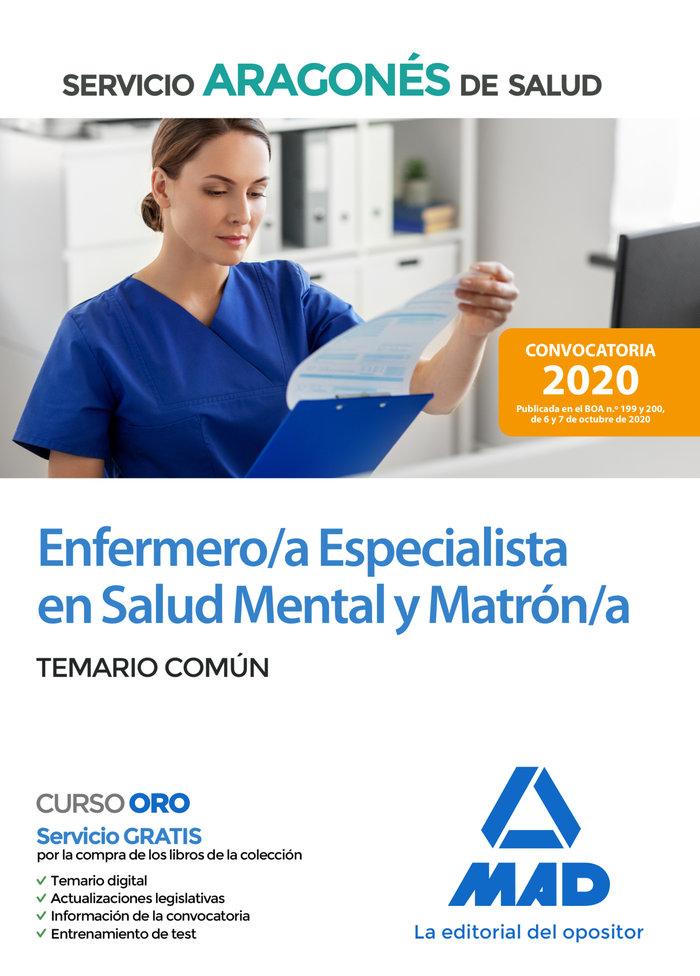 Enfermero/a especialista en salud mental y matron/a del serv