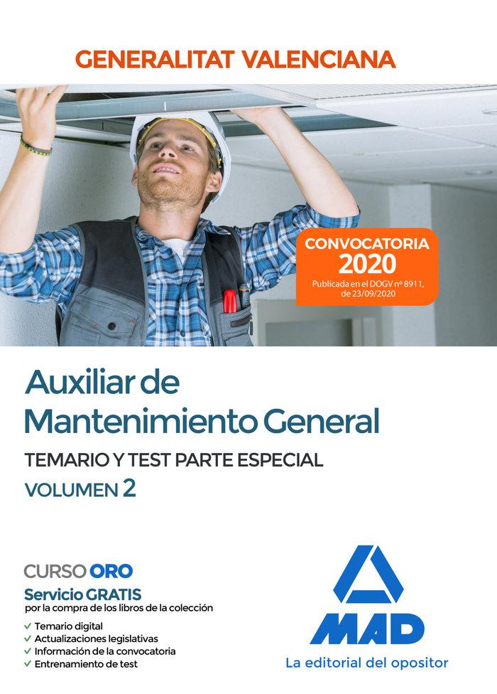 Auxiliar mantenimiento general parte especial temario 2 val