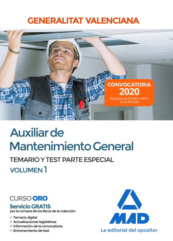 Auxiliar mantenimiento general parte especial temario 1 val