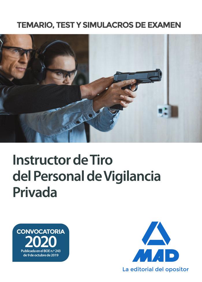 Instructor de tiro del personal de vigilancia privada. temar