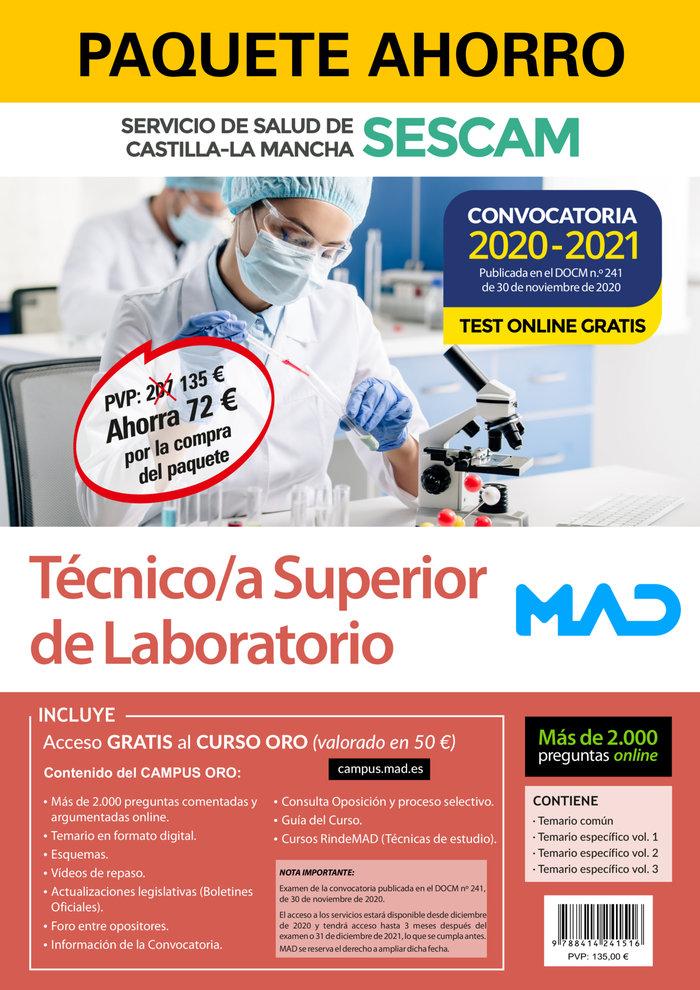 Paquete ahorro tecnico/a superior laboratorio sescam