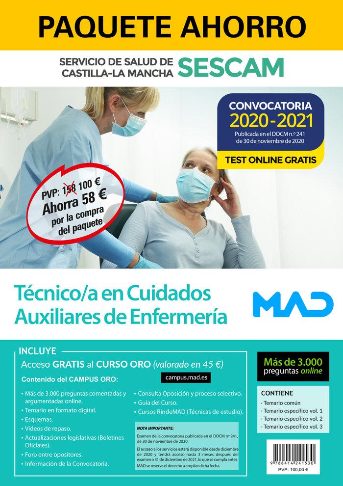 Paquete ahorro y test online gratis tecnico en cuidados auxi